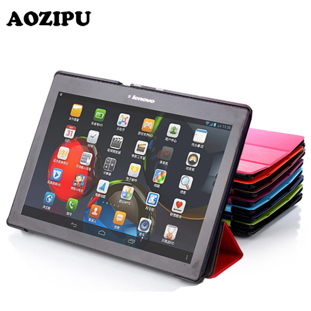 AOZIPU Funda Case For Lenovo Tab 2 A10 70F Leather Case Cover For Tab2 A10-70 70 A10-70F A10-70L A10-30 X30F 10.1'' Tablet