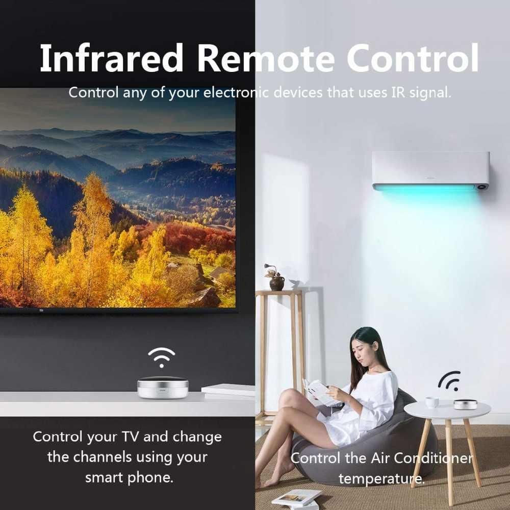 المنزل الذكي أتمتة التلفزيون واي فاي IR التبديل العالمي الذكي APP التحكم عن بعد التحكم الصوتي اليكسا