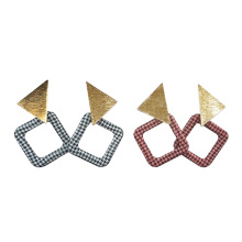 Punk Design Fashion Square Triangle Geometric Drop Earring Women Party Jewelry pendientes brincos цена