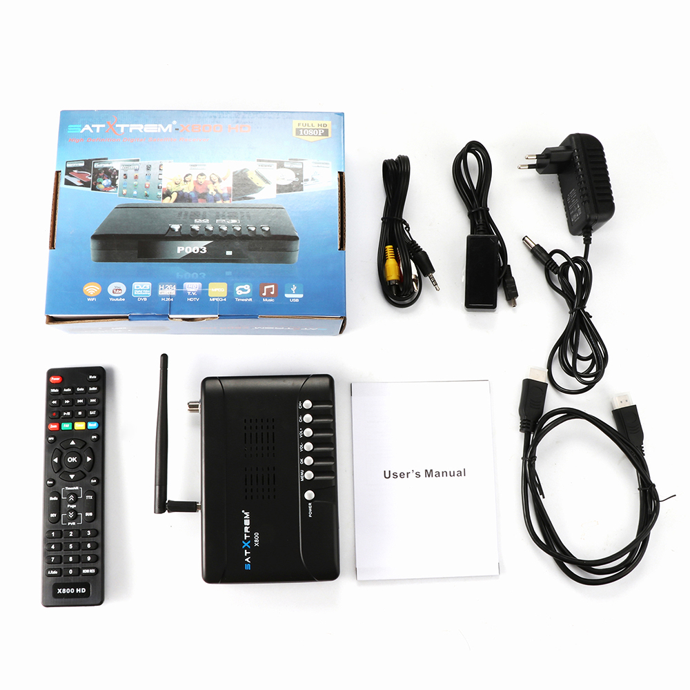 Newest 1080P Full HD DVB-S2 x800 receptor DVB-S2 Satellite Receiver with USB WIFI support Europe clines iks pk (3)