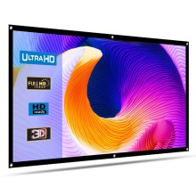 HENZIN 16:9 Портативный 120 дюймов проектор экран 100 дюймов настенный экран для проектора домашний кинотеатр на открытом воздухе проекционный экран