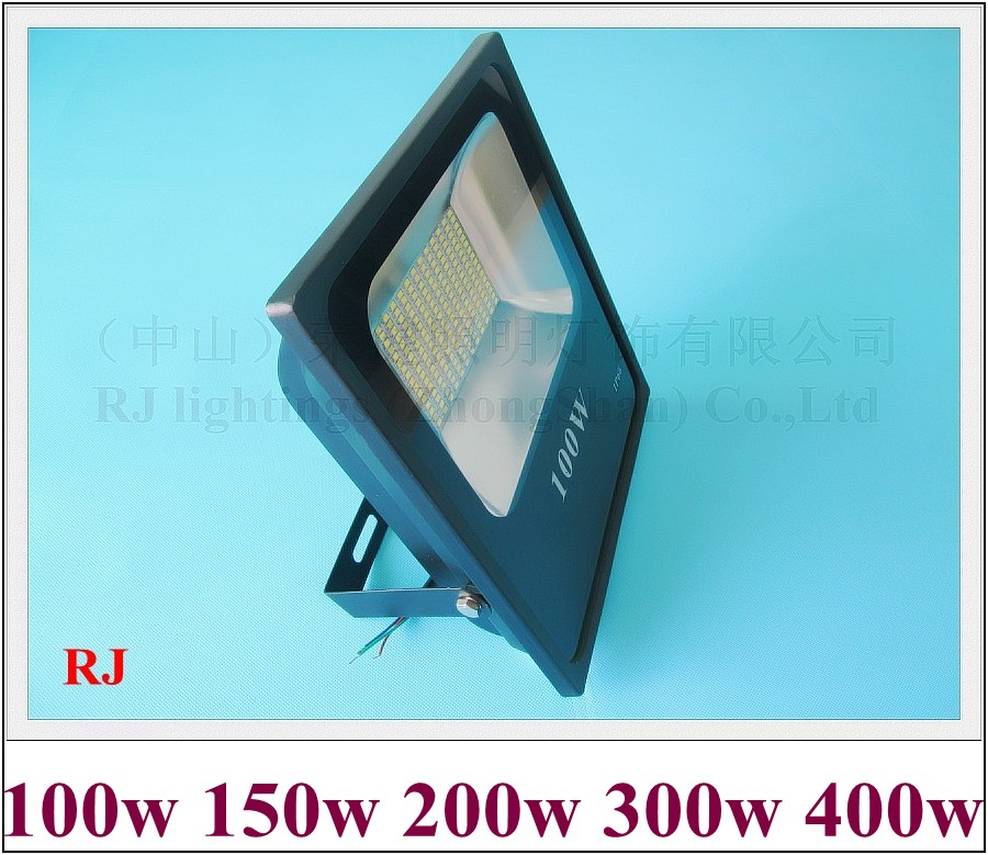 SMD5730 LED flood light floodlight AC85V-265V waterproof IP65 CE aluminum high bright 100W to 400W (100 150 200 300 400)