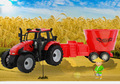 Моделирование фермер обмолота тягача большая детская игрушка модель автомобиля