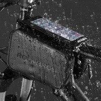 ROCKBROS Bicycle Bag Waterproof Touch Screen MTB Bike Front Top Tube Frame Phone Bag Bike Pannier