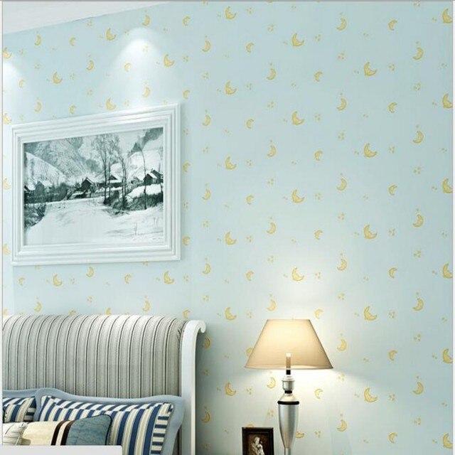 beibehang moderne minimalistische behang leuke maan kinderkamer woonkamer slaapkamer achtergrond muur 3d behang voor muurschildering