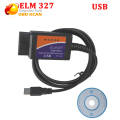 2016 Newest obd2 ELM 327 USB Plastic Auto Car Diagnostic Tool ELM327 v2.1 usb without bluetooth elm327 USB V 2.1 scanner
