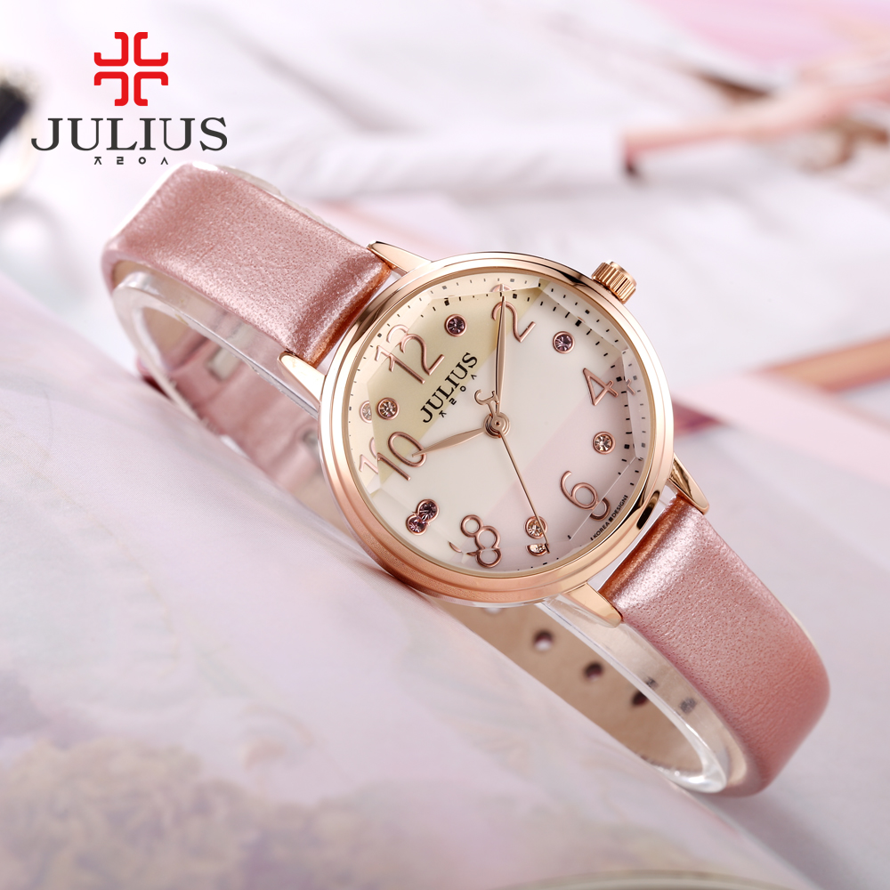 JULIUS Logo marca superior moda señoras Rosa oro relojes estilo strass relojes mujeres Precios relojes baratos China Dropship JA 930-in Relojes de mujer from Relojes de pulsera    2
