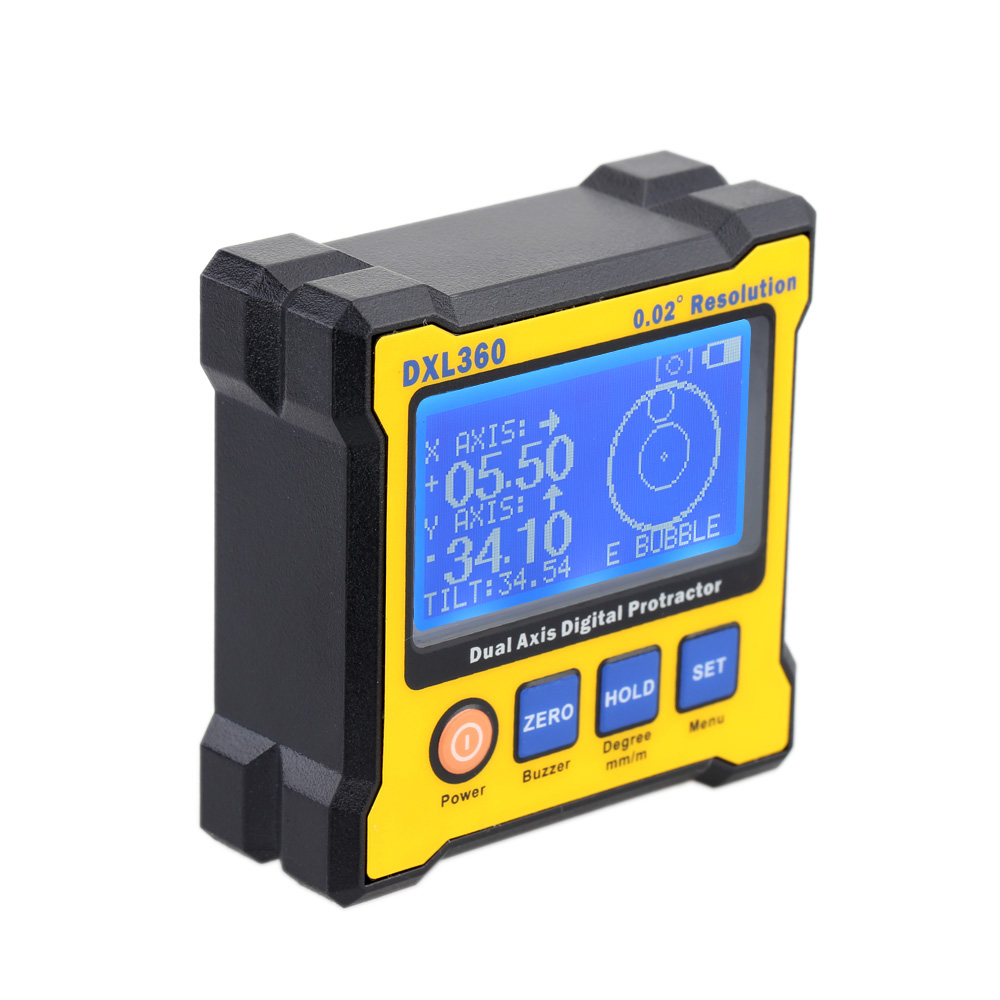 Dual Axis Digital Angle Protractor 50 60Hz DXL 360 with 5 Side Magnetic Base Digital Display