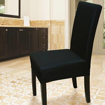dining chair covers aliexpress zebra swivel online shop spandex cover pure color 8 colors stretch short machine washable restaurant 4 pcs xs