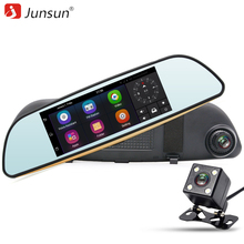 "Junsun 7 ""3G Cámara Del Coche DVR Espejo Android 5.0 de Navegación GPS de Doble Lente Full HD 1080 P Video Recorder Espejo retrovisor Dash cam"