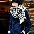 Hijab Bandana Winter Korean Mohair Lattice Scarf Bump Color Wool Knitting Scarf Pashmina Echarpe