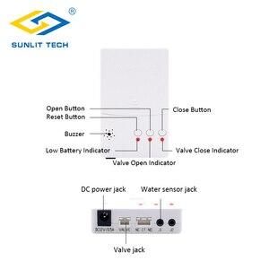 Image 3 - Hause Smart Wasser Leck Detektor mit Auto Abschaltung Ventil Wasser Flut Alarm Überlauf Leckage Sensor Für Home Security Alarm system