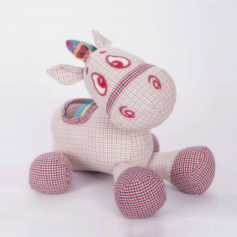 Cute Cotton Hemp Fabric Donkey Creative Baby Doll Puppet Doll Children Filled Soothing Toy Bamboo Charcoal Interior Doll In Car baby toys