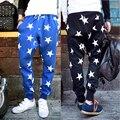 Tide marca men ' s jaquetas calças modelos de explosão masculino estrela moda europeus e americanos harem pants pés calças masculinas hip - hop