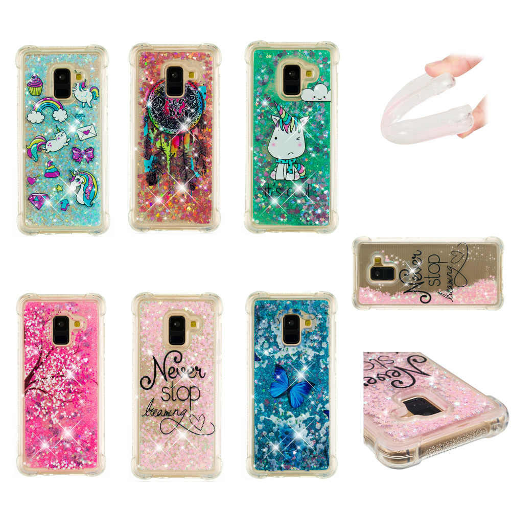 hot Butterfly Flower Floating Quicksand liquid fashion PhoneCase for Samsung J7 J3  J1 A3 A5 J5 S7 S6 Edge S8 S9 protective case