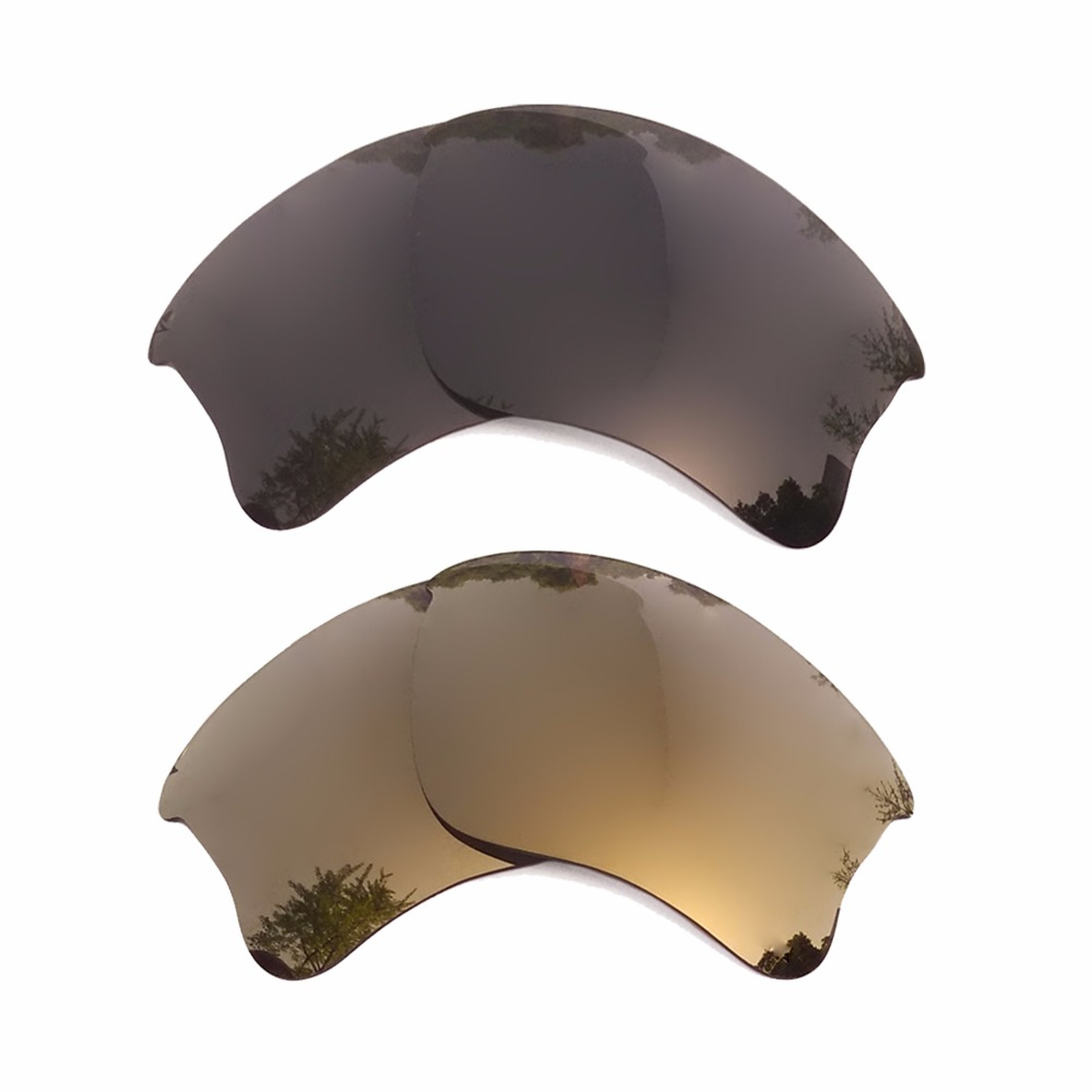 Apparel Accessories Well-Educated Black & Bronze Gold Mirrored Polarized Replacement Lenses For Flak Jacket Xlj Frame 100% Uva & Uvb