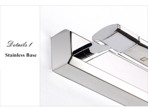 Image 5 - شحن مجاني 5 واط وحدة إضاءة LED جداريّة أضواء SMD5050 الفولاذ المقاوم للصدأ LED أضواء مرآة مصباح AC110V/220 فولت مرآة حمام أضواء مرآة