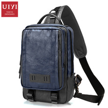 UIYI Large Capacity Men's Chest Bag Shoulder 12' 13' laptop