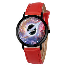 Casual Quartz Space System Watch Unisex Classy Creative Unique Solar Astronomy Planets Leather Strap Analog Watches Relogio