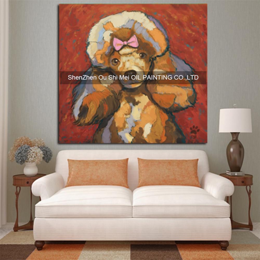 Modern Living Room Paintings Modern Dog Paintings Promotion Shop For Promotional Modern Dog