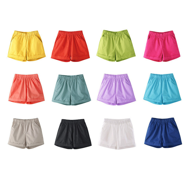 2021 Summer Hot Fashionable Biker Short Candy Color Casual Beach Black Shorts Women Plus Size Loose Cotton Neon Female Shorts 5