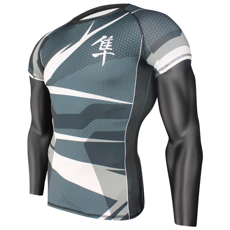 Essentials Boxing Short Sleeve Compression MMA BJJ Wrestling Cross Training Rash Guard Fitness MMA Compression Shirt