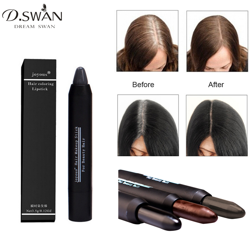 Hair Color Crayon Cover Gray Root Hair Instantly Hair Colour Dye Stick Temporary Cover White Hair Non-Toxic image