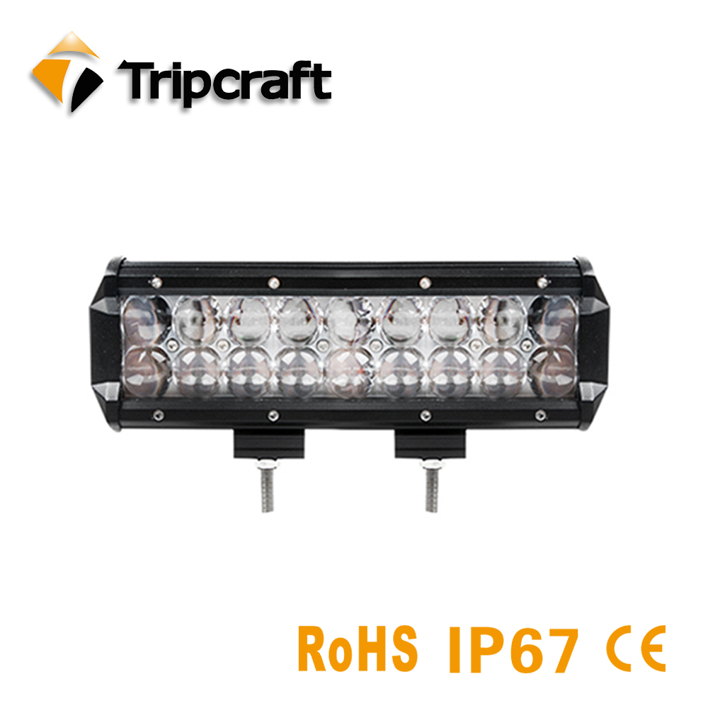 TRIPCRAFT waterproof 90W 4D LED Light Bar for Work Indicators Driving Offroad Boat Car Tractor Truck 4x4 SUV ATV Combo fog lamp tripcraft 4 6inch 40w led work light bar spot flood combo beam for offroad boat truck 4x4 atv uaz 4wd car fog lamp 12v 24v ramp