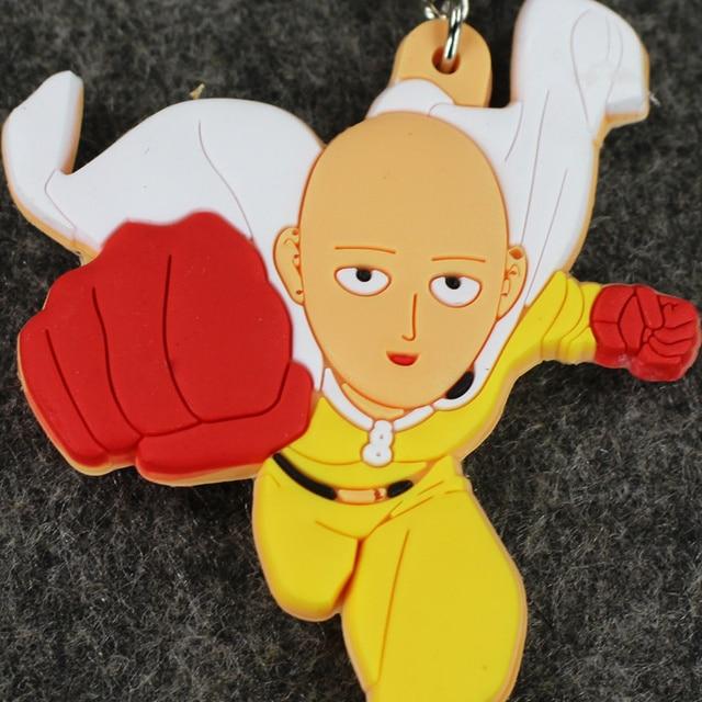 One Punch Man PVC Saitama Sensei Handmade Pendants Keychian