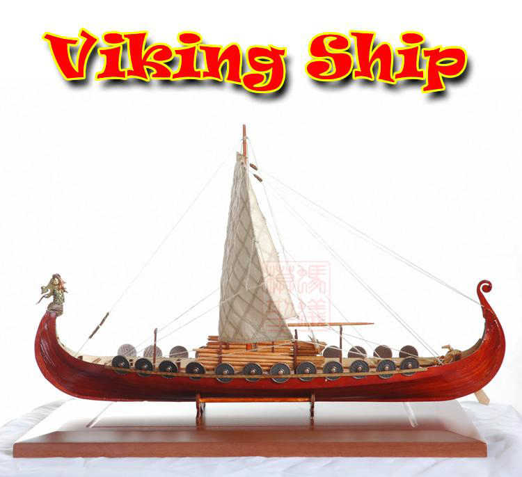 NEW Scale 1/50 Viking Pirate model ship laser cut wood sailboat Children education toys