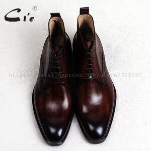 Image 4 - Cie/кожаные ботинки до щиколотки с закругленным мысом, 100% натуральная кожа, коричневый с оттенком патины, кожаная подошва ручной работы со шнуровкой, мужские ботинки, A97