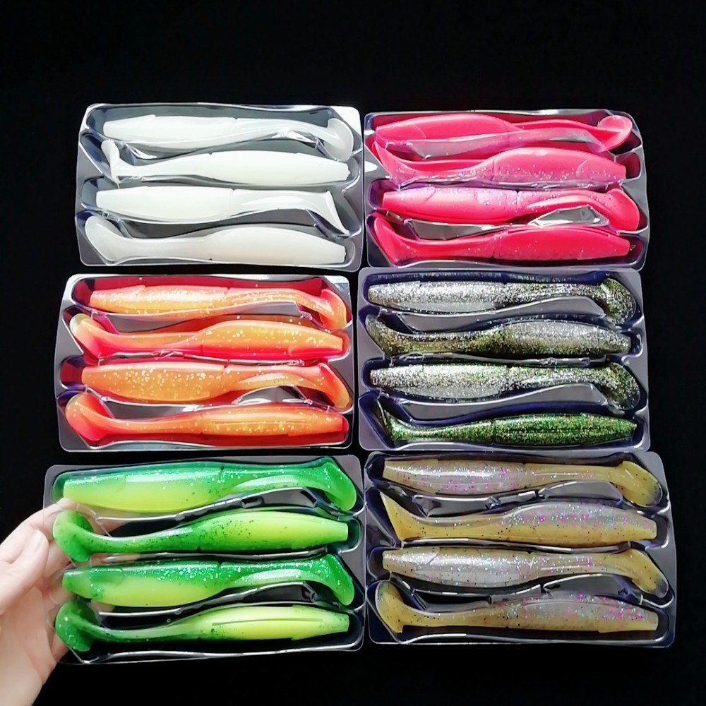 Noeby 24pcs shads 150mm 24g large soft lures big soft bait fishing lure material for freshwater