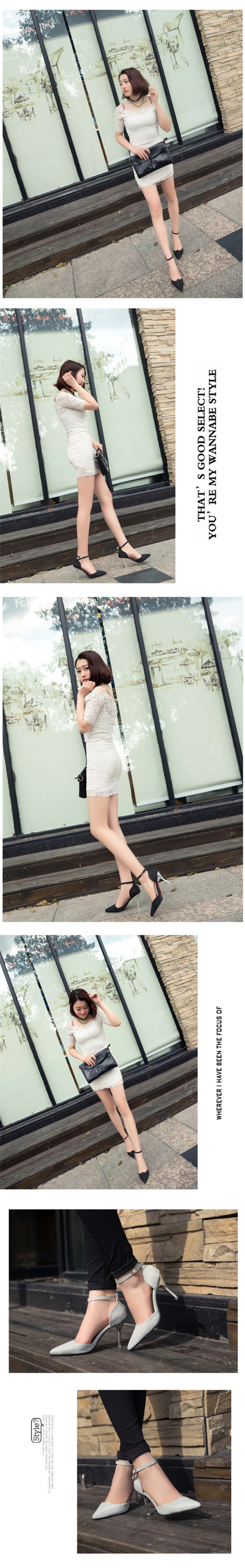 2016 New Hot Sale New European Fashion Sequins 4 Color High Quality Pointed Toe Women Pumps HSB23 (7)