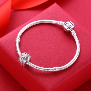 Image 5 - Video! Chinese knot 925 Sterling Silver beads charms fit Bracelets Never change color DDBJ103