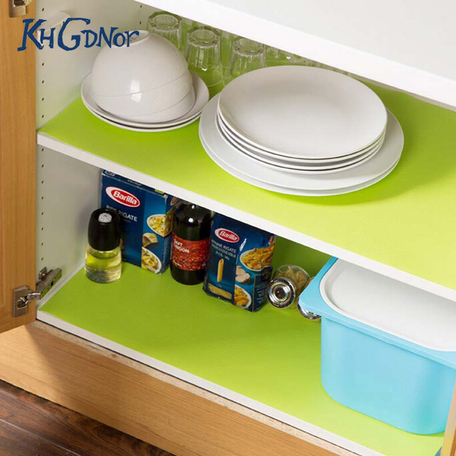 New Arrive Candy Color Kitchen Cupboard Mats Anti Slid Milder Proof Cabinet Drawer Pad Mat