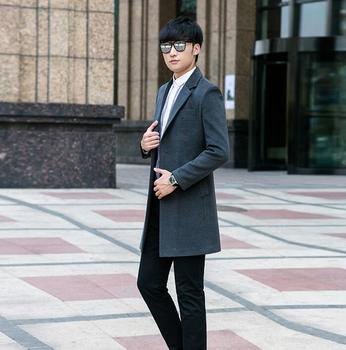 Plus size 9XL 2020 autumn winter long wool coat men single breasted grey fashion trench coats mens overcoat casaco masculino