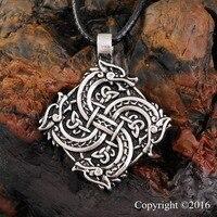 1pcs Norse Vikings Pendant Necklace Wolf Head Necklace Original Animal Jewelry Wolf Head Hange Warrior Amulet
