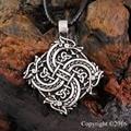 1 pcs Norse Vikings pingente colar colar de cabeça de lobo animais originais jóia da cabeça do lobo hange guerreiro amuleto pingente de colar