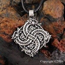 1 pcs Norse Vikings collier avec pendentif tête de loup collier Original animaux bijoux tête de loup hange Warrior amulette pendentif collier
