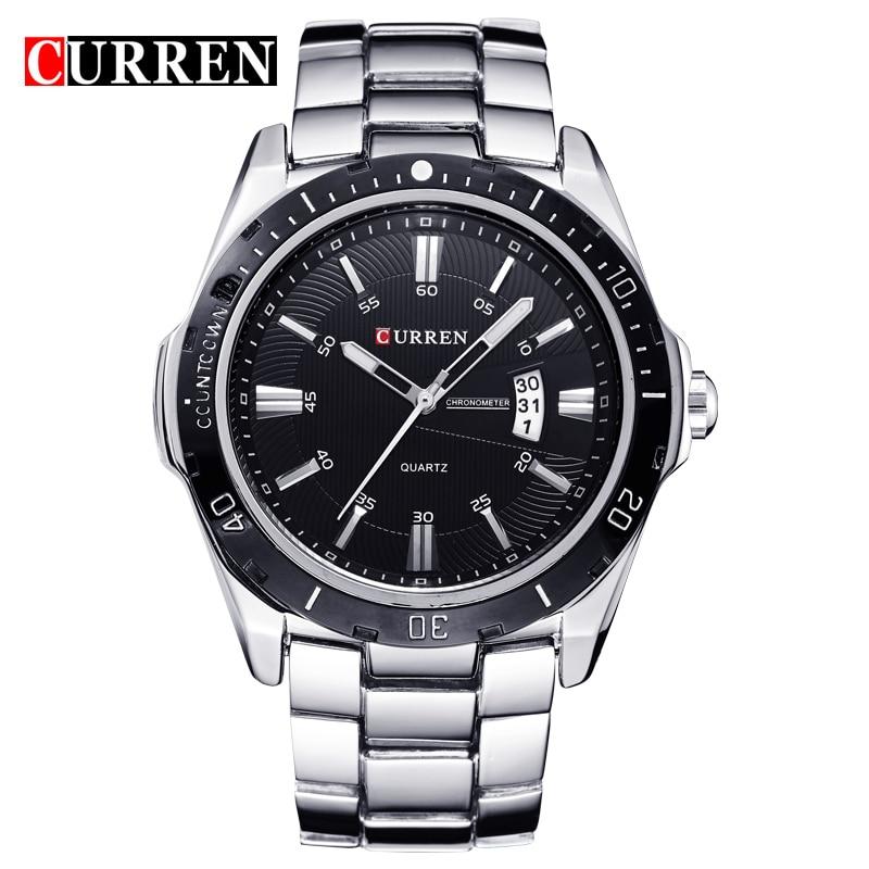 Curren 8110 Mens Watches Top Brand Luxury Full Steel Quartz Men Watch Waterproof Clock Male Sport Wristwatches Relogio Masculino