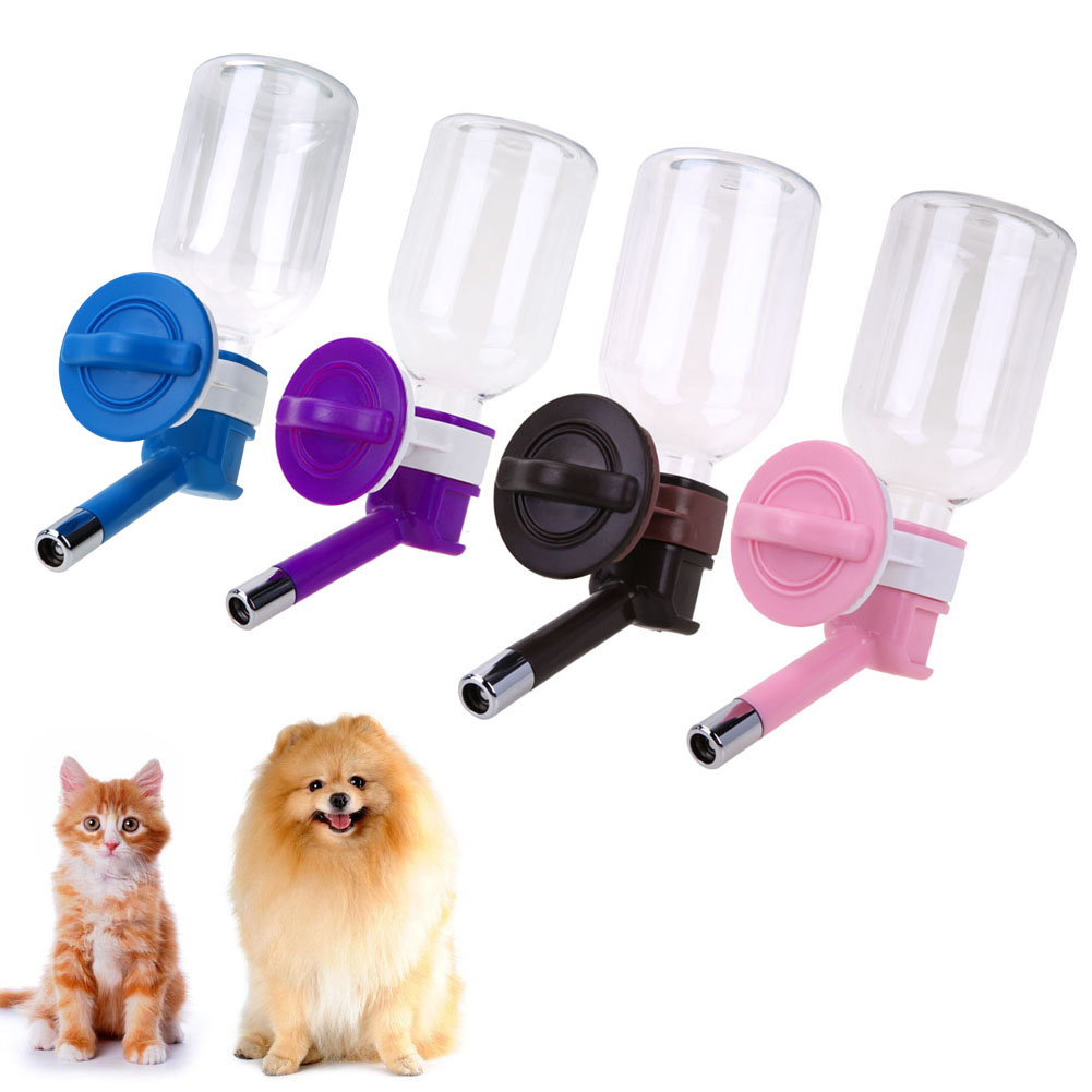 330ml Pet Water Dispenser Pet Drinking Fountain for Dog Cat Rabbit Hamster Equirrel Rustfritt Stål Vann Drikke Reise Vannkoker