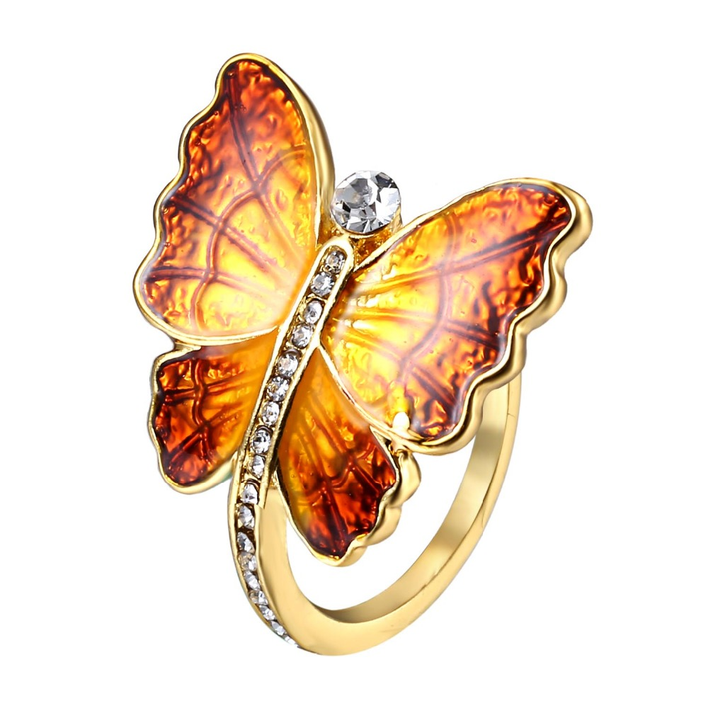 Queen's Gold Butterfly Rings