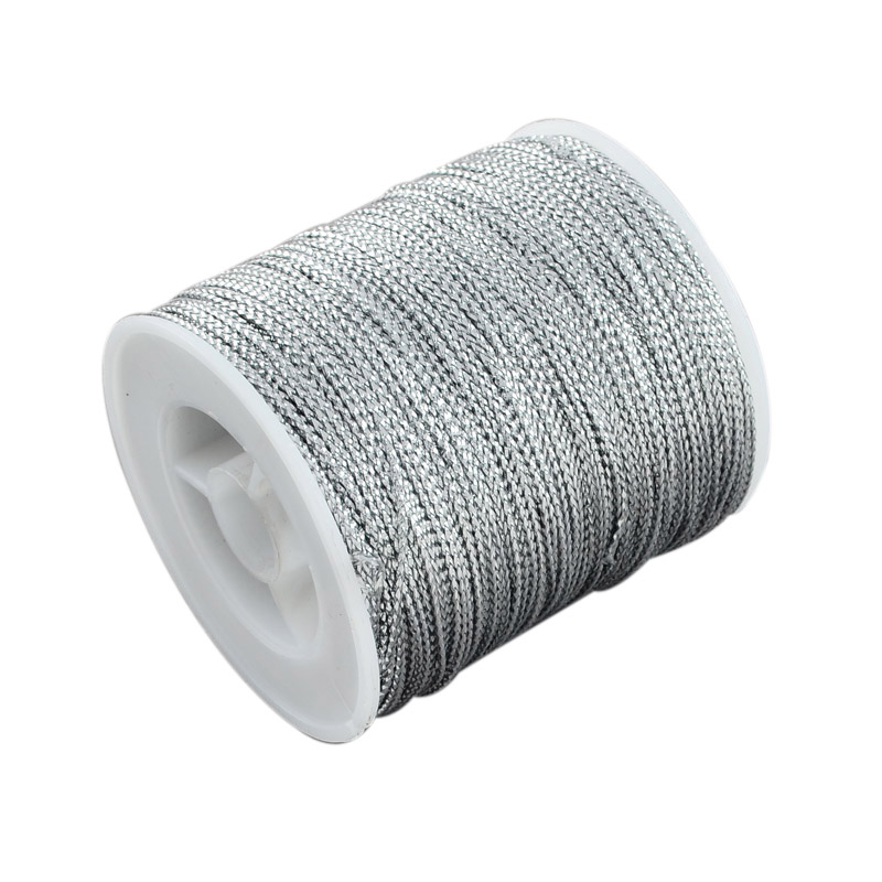 1mm Jewelry Braided Thread Metallic Cords for DIY jewelry  findings for jewelry making , 100m/roll
