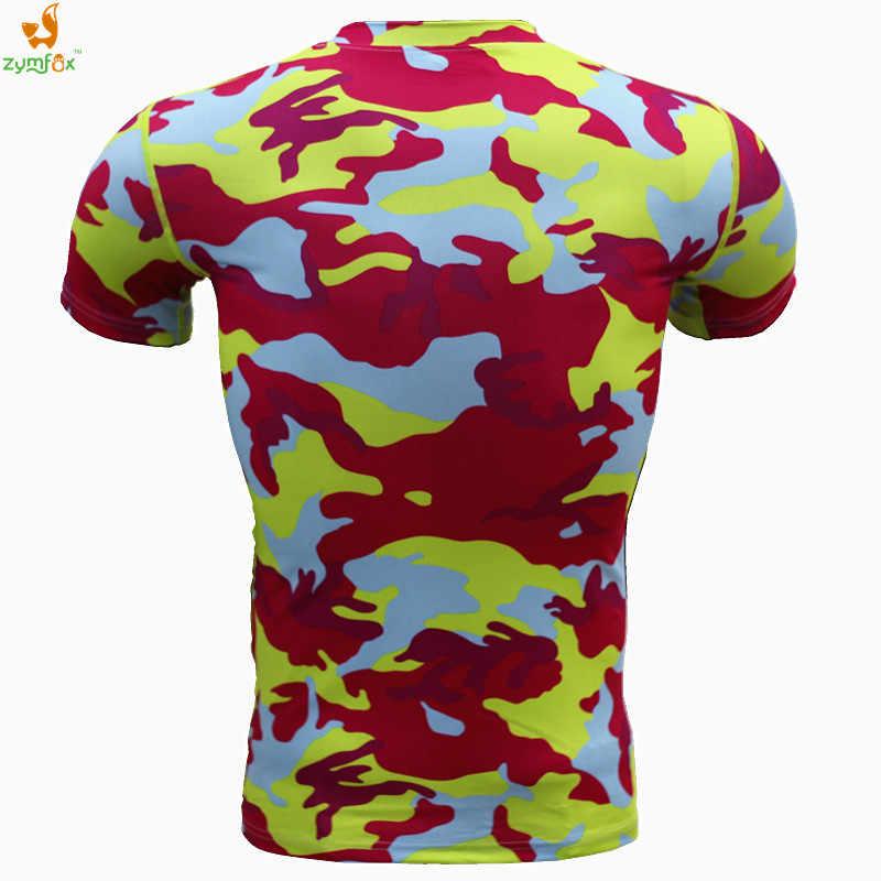 ジムベース層迷彩軍の戦術的な Tシャツメンズフィットネスタイツクロスフィットを実行しているスポーツティーズ圧縮 S-XXXL