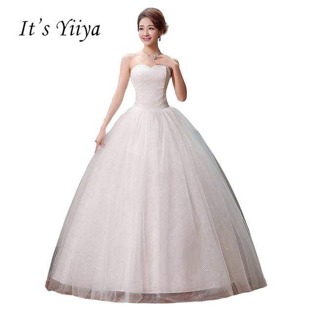 Simple Tulle Wedding Dress HSNAL0028
