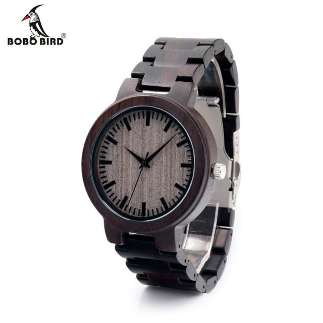 BOBOBIRD C30 Ebenholz Holz Uhren Für Herren Uhren Top marke Luxus Quarz Uhren Mit Geschenk Box