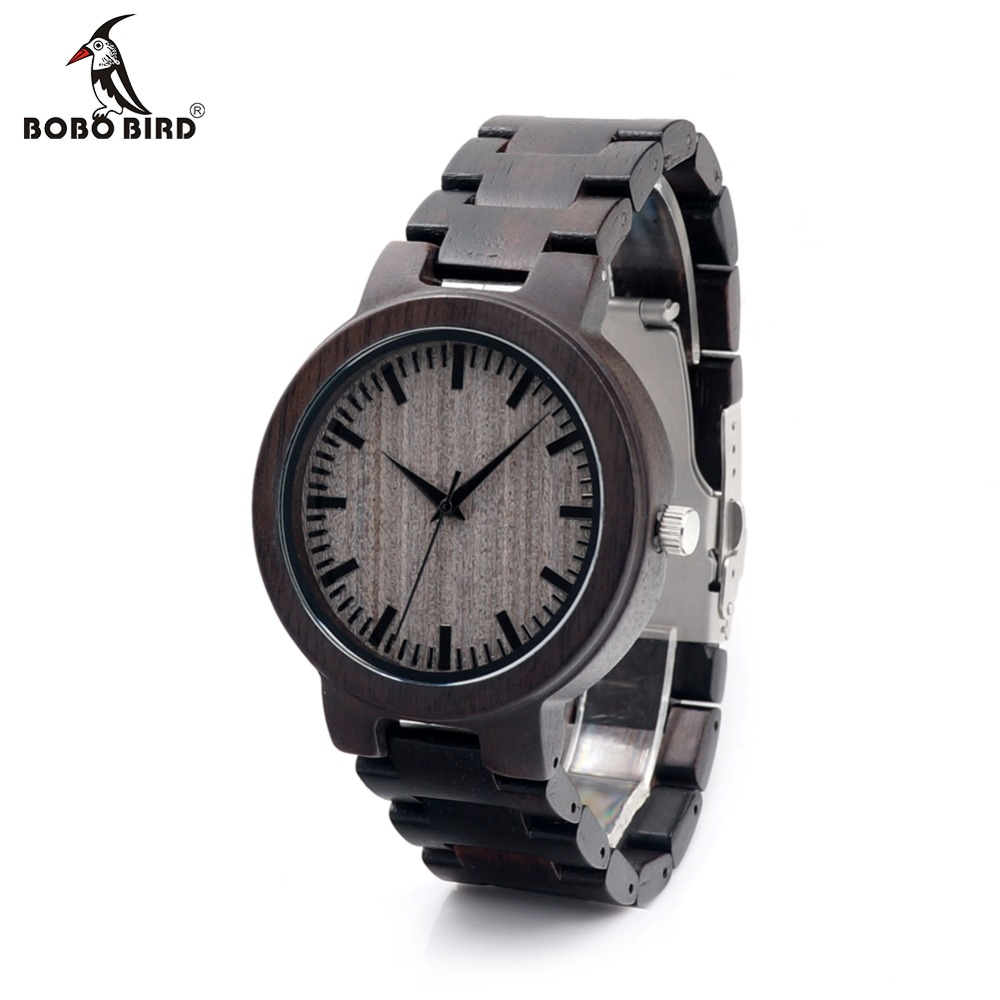 BOBOBIRD C30 Ebony Wood Watches For Herreklokker Topp Merken Luxury Quartz Watches With Gift Box