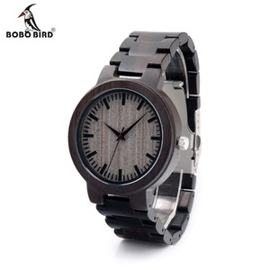 Image 1 - Bobobird c30 에보니 우드 시계 남성용 시계 브랜드 럭셔리 쿼츠 시계 선물 상자
