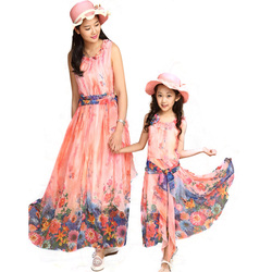 Mother daughter clothes kids mommy and me dresses summer family matching mom women girls holiday outfit.jpg 250x250