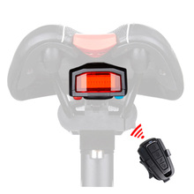 Wireless Electric Cycling Bell light Bicycle Alarm Light Cycling Taillight horn LED Anti theft Remote bike Accessories